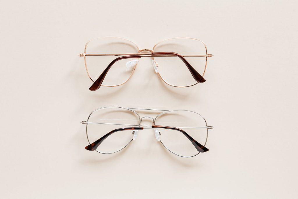 pair of elegant glasses with optical lenses